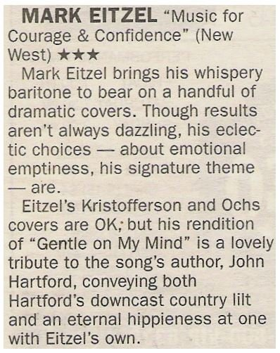 Eitzel, Mark / Music for Courage + Confidence | Newspaper Review | May 2002