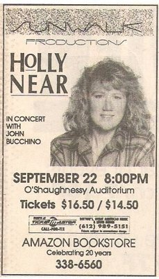 Near, Holly / O'Shaughnessy Auditorium - St. Paul, MN | Newspaper Ad | September 1990