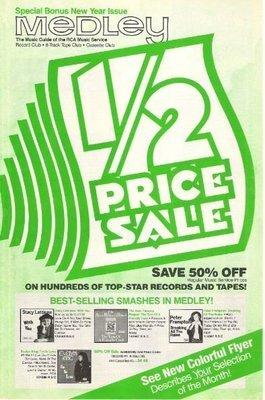 Medley (RCA Music Service) / Half Price Sale | Catalog | New Year 1982