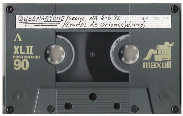 Queensryche / George, WA - Champes de Brionne Winery | Live Cassette | June 6, 1992