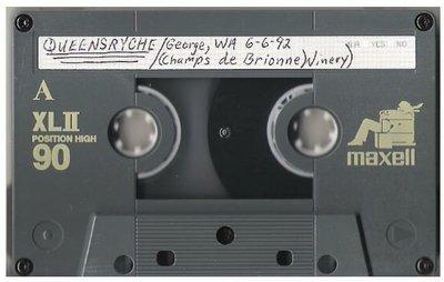 Queensryche / George, WA - Champes de Brionne Winery | Live Cassette | June 6, 1992