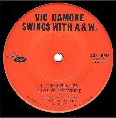 Damone, Vic / Vic Damone Swings with A+W | Capitol Custom PB-2272-3 | EP, 7