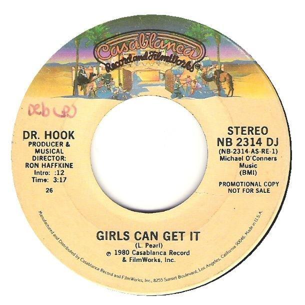 """Dr. Hook / Girls Can Get It   Casablanca NB-2314 DJ   Single, 7"""" Vinyl   October 1980   Promo"""