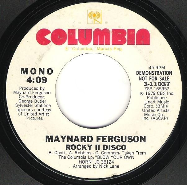 "Ferguson, Maynard / Rocky II Disco | Columbia 3-11037 | Single, 7"" Vinyl | 1979 | Promo"