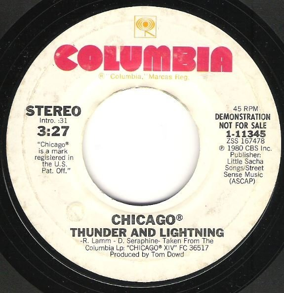 "Chicago / Thunder and Lightning | Columbia 1-11345 | Single, 7"" Vinyl 