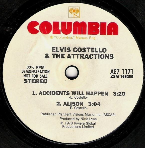 "Costello, Elvis (+ The Attractions) / Live at Hollywood High | Columbia AE7-1171 | EP, 7"" Vinyl 