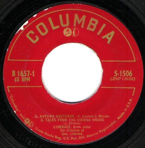 "Liberace / Liberace By Candlelight Vol. II | Columbia B-1657 | EP, 7"" Vinyl | 1953"