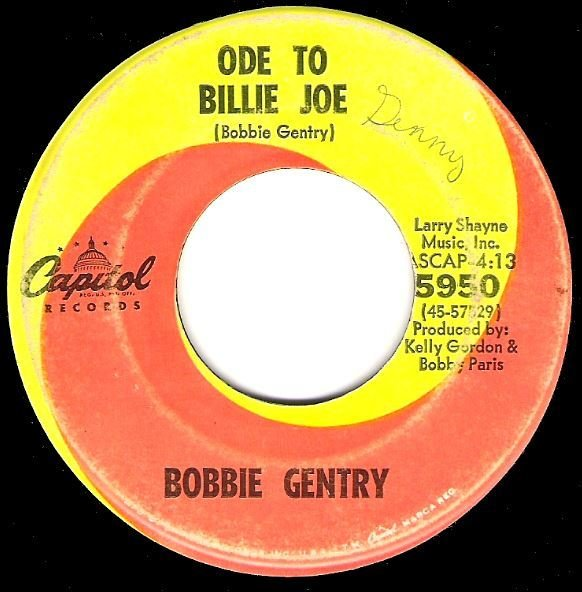 "Gentry, Bobbie / Ode to Billie Joe | Capitol 5950 | Single, 7"" Vinyl 
