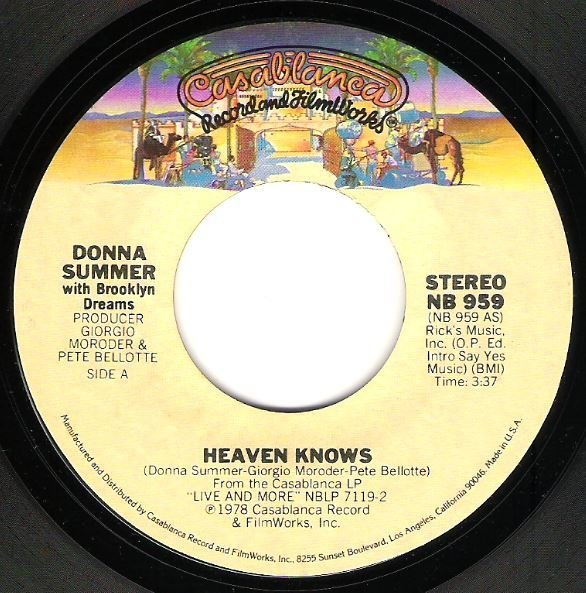 Summer, Donna / Heaven Knows   Casablanca NB-959   Single, 7