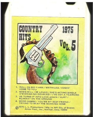 Uncredited Artists / Country Hits 1975 - Vol. 5 | MPI MP-619 | White Shell | 8-Track Tape | 1975