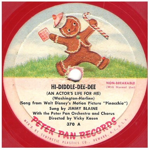 "Blaine, Jimmy / Hi-Diddle-Dee-Dee | Peter Pan Records 307 | EP, 7"" Vinyl 