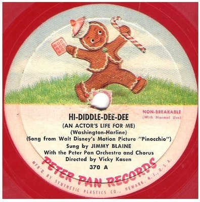 Blaine, Jimmy / Hi-Diddle-Dee-Dee | Peter Pan Records 307 | EP, 7