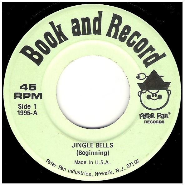 "Uncredited Artists / Jingle Bells | Peter Pan Records 1995 | Single, 7"" Vinyl 