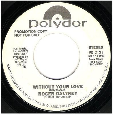 Daltrey, Roger / Without Your Love | Polydor PD-2121 | Single, 7