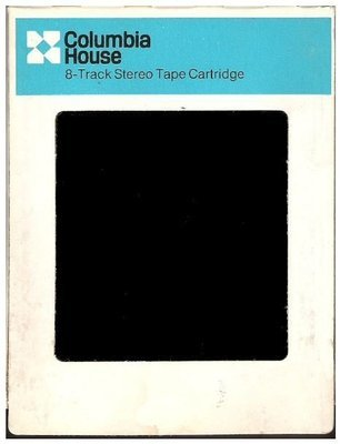 Columbia House / White and Blue With Black Print | Record Company Sleeve for 8-Track Tapes