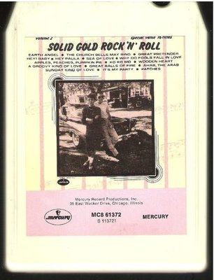 Various Artists / Solid Gold Rock 'N' Roll - Volume 2 | Mercury MC8-61372 | White Shell | 8-Track Tape | 1972