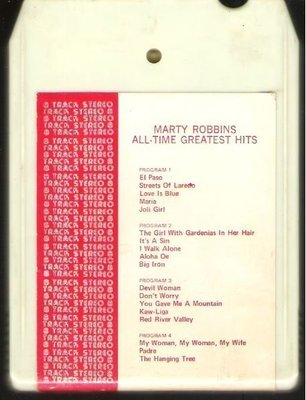 Robbins, Marty / All-Time Greatest Hits | Audio Dynamic | White Shell | 8-Track Tape | 1972