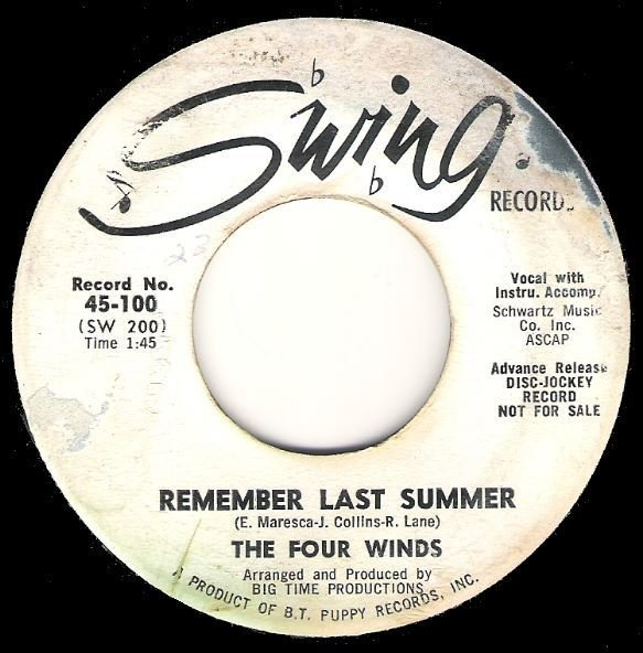 "Four Winds, The / Remember Last Summer | Swing 45-100 | Single, 7"" Vinyl 