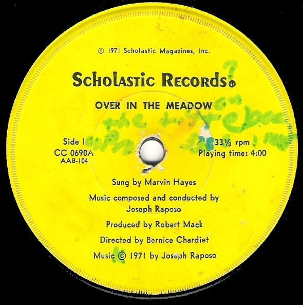 "Hayes, Marvin / Over In the Meadow | Scholastic CC-0690 | Single, 7"" Vinyl 