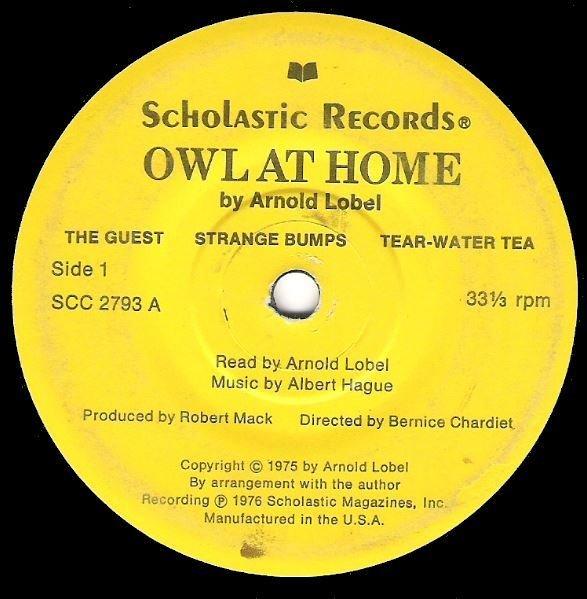"Lobel, Arnold / Owl At Home   Scholastic SCC-2793   EP, 7"" Vinyl   1976"