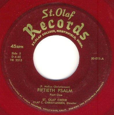 St. Olaf Choir / Fiftieth Psalm | St. Olaf Records 50-11 | Single, 7