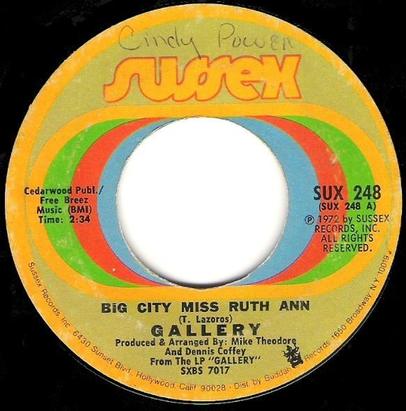 "Gallery / Big City Miss Ruth Ann | Sussex SUX-248 | Single, 7"" Vinyl 
