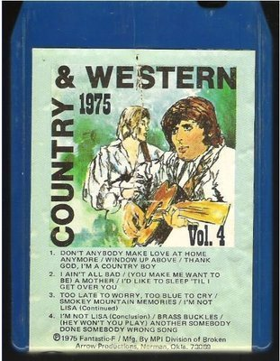 Uncredited Artists / Country + Western 1975 - Vol. 4 / Fantastic-F MP-618 | Blue Shell | 8-Track Tape | 1975