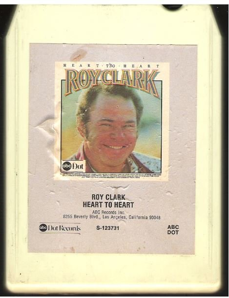 Clark, Roy / Heart to Heart | ABC-Dot S-123731 | White Shell | 8-Track Tape | 1975