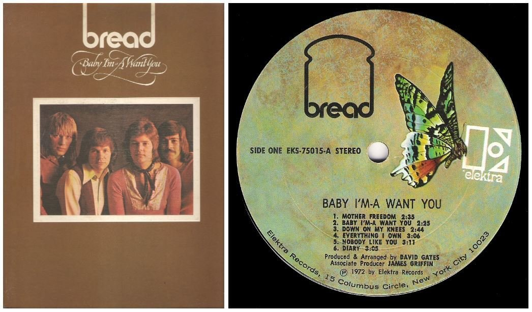 "Bread / Baby I'm-a Want You | Elektra EKS-75015 | Album (12"" Vinyl) 
