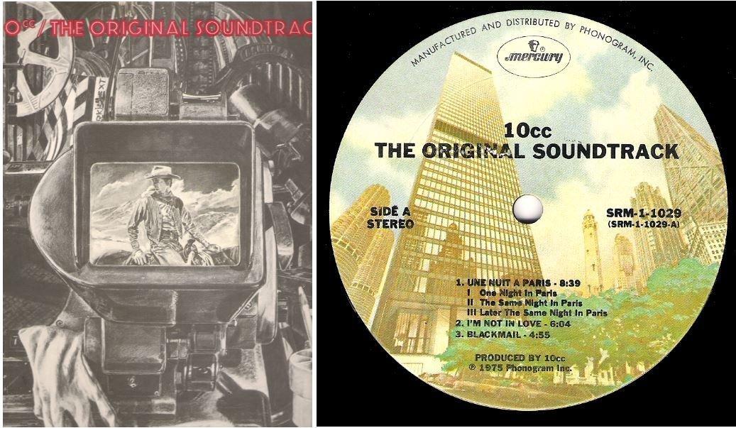 "10cc / The Original Soundtrack | Mercury SRM-1-1029 | Album (12"" Vinyl) | March 1975"