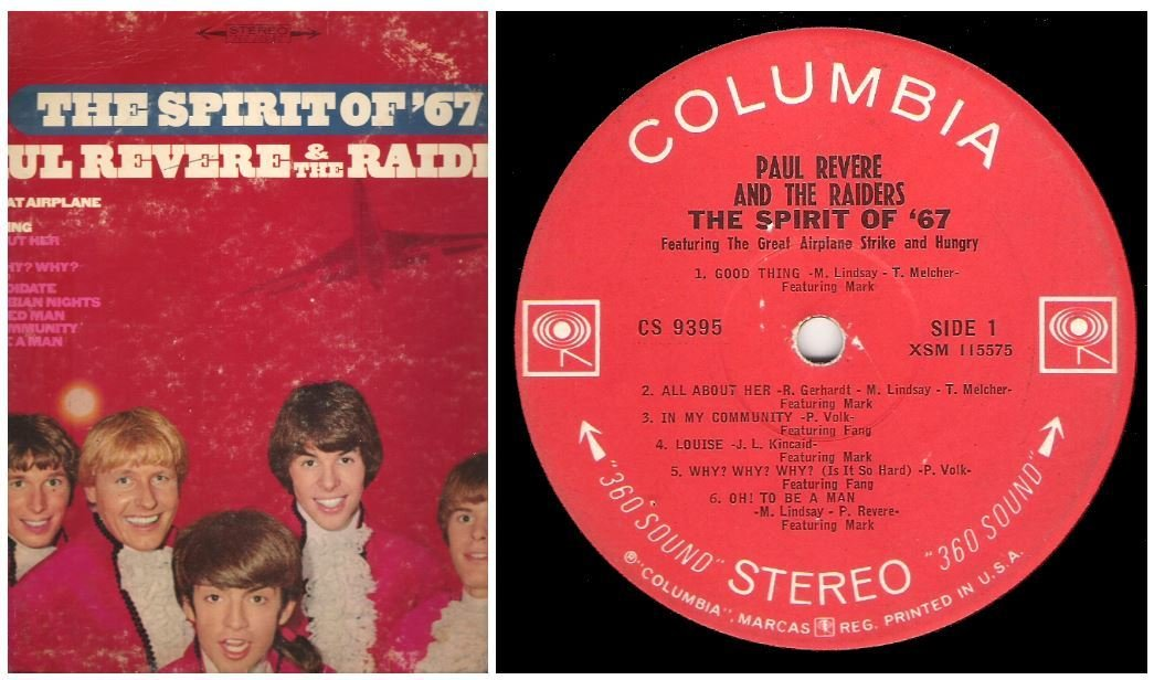 "Revere, Paul (+ The Raiders) / The Spirit of '67 | Columbia CS-9395 | Album (12"" Vinyl) 