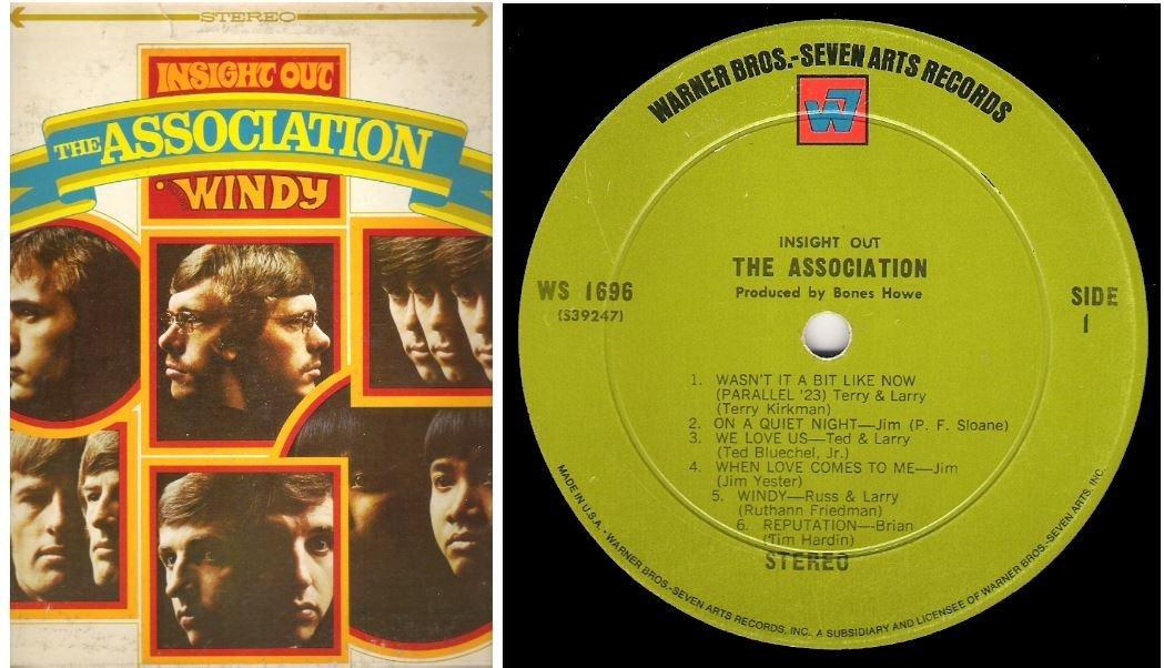 "Association, The / Insight Out | Warner Bros. WS-1696 | Album (12"" Vinyl) | June 1967"