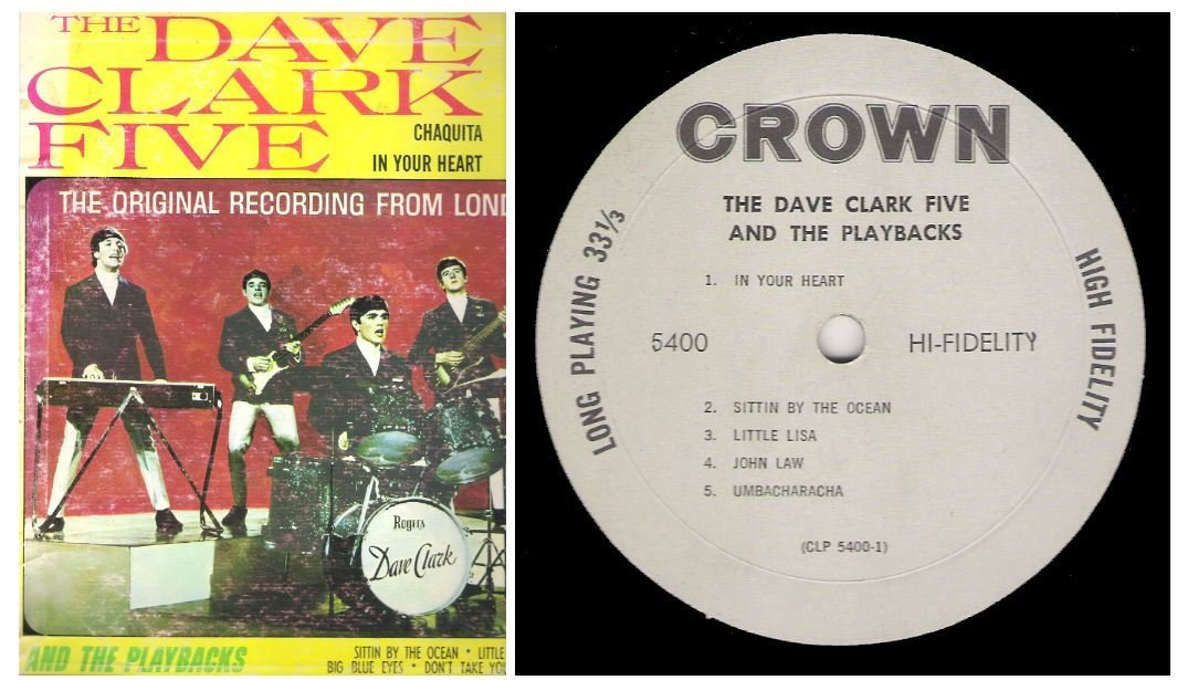 "Clark, Dave (The Dave Clark Five) / The Dave Clark Five and The Playbacks | Crown CLP-5400 | Album (12"" Vinyl) 