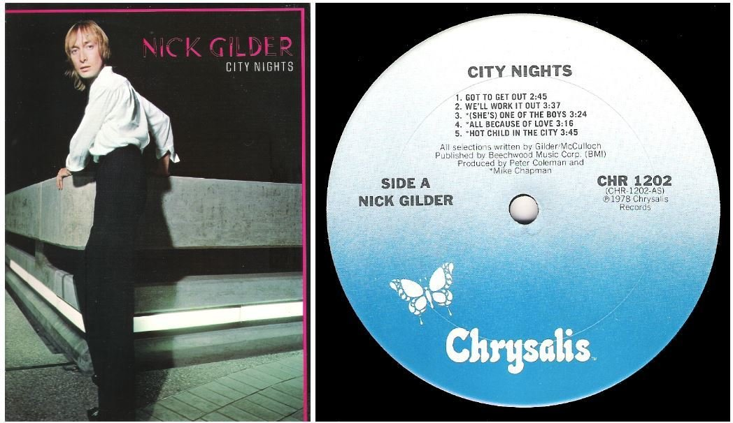 "Gilder, Nick / City Nights | Chrysalis CHR-1202 | Album (12"" Vinyl) 