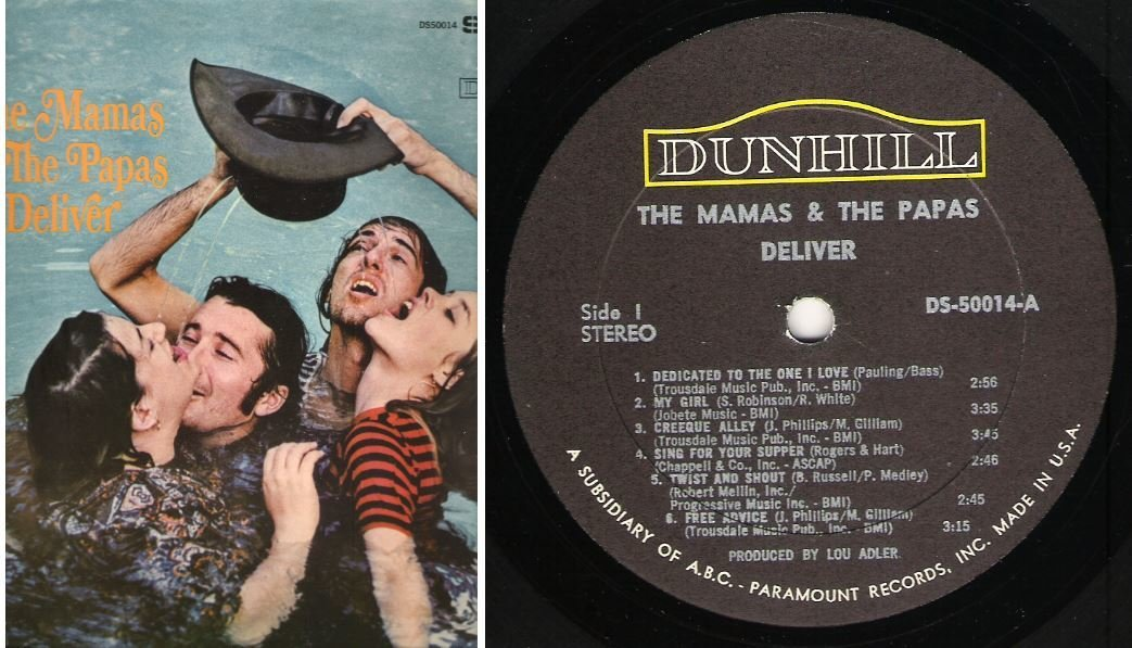"Mamas + Papas, The / Deliver | Dunhill DS-50014 | Album (12"" Vinyl) 