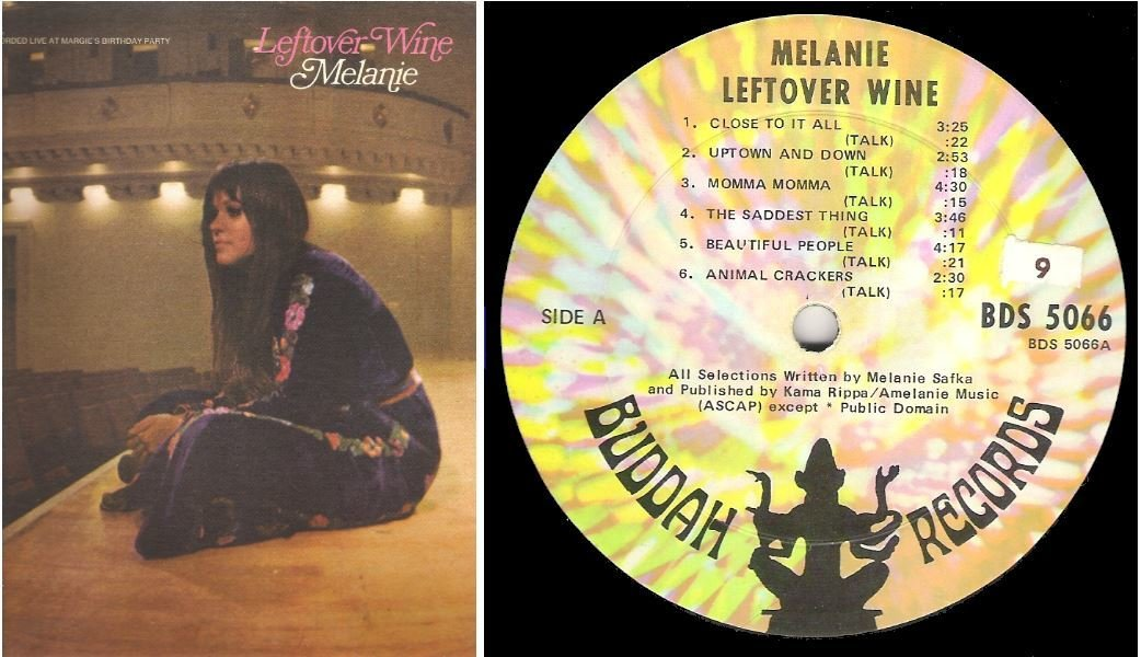 "Melanie / Leftover Wine | Buddah BDS-5066 | Album (12"" Vinyl) 
