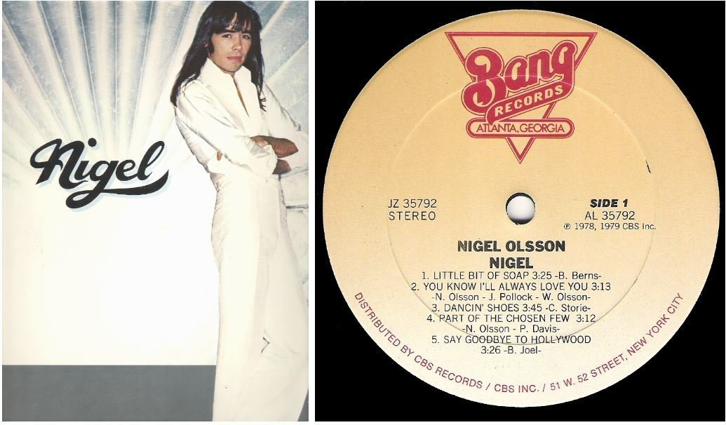 "Olsson, Nigel / Nigel | Bang JZ-35792 | Album (12"" Vinyl) 