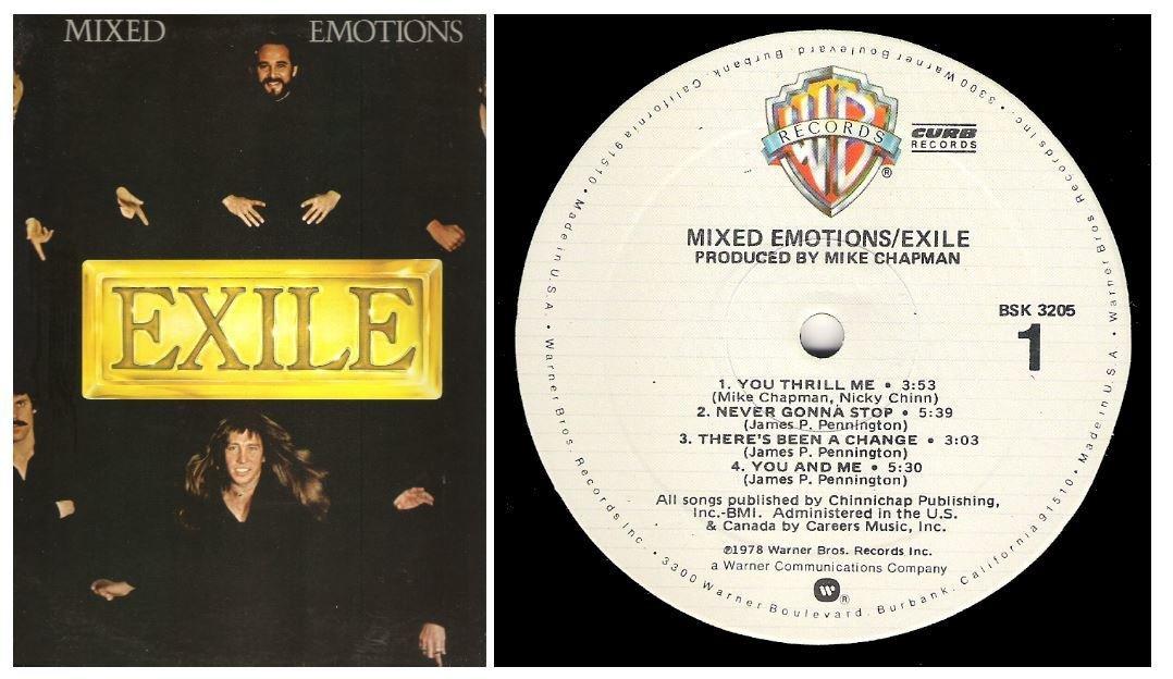 "Exile / Mixed Emotions | Warner Bros. BSK-3205 | Album (12"" Vinyl) | 1978"