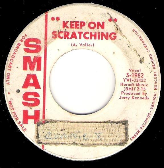 "John R / Keep On Scratching | Smash S-1982 | Single, 7"" Vinyl | May 1965"