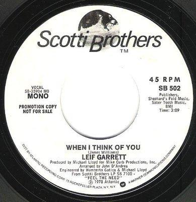 Garrett, Leif / When I Think of You | Scotti Brothers SB-502 | Single, 7