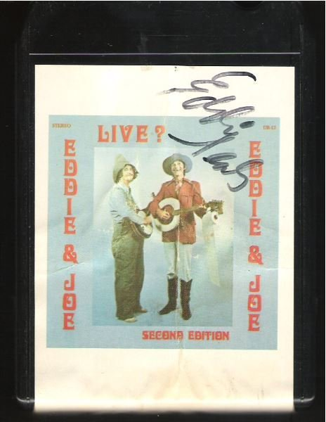Eddie + Joe / Live? Second Edition / UR-13 | Black Shell | 8-Track Tape | 1975 | Autographed