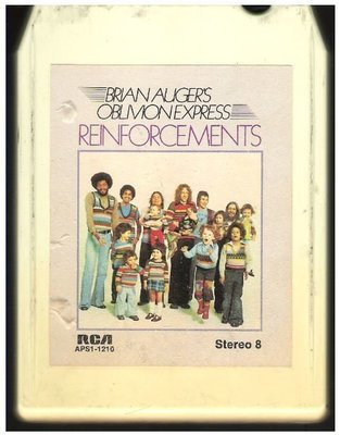 Auger, Brian (Oblivion Express) / Reinforcements / RCA APS1-1210 | White Shell | 8-Track Tape | 1975