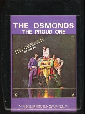 Osmonds, The / The Proud One | MGM M8H-4993 | Black Shell | 8-Track Tape | August 1975