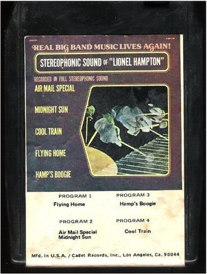 Various Artists / The Stereophonic Sound of Lionel Hampton | Bright Orange BO-8716 | Black Shell | 8-Track Tape