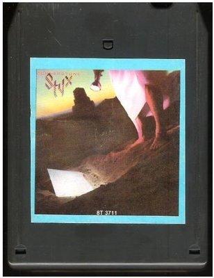 Styx / Cornerstone | A+M 8T-3711 | Light Black Shell | 8-Track Tape | October 1979