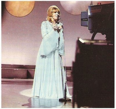 Springfield, Dusty / On Stage - Light Blue Gown - TV Camera in Foreground | Magazine Photo | 1960s