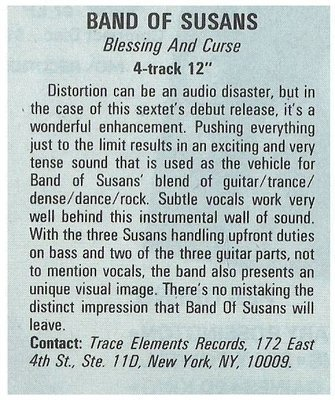 Band of Susans / Blessing and Curse   Magazine Review   December 1987