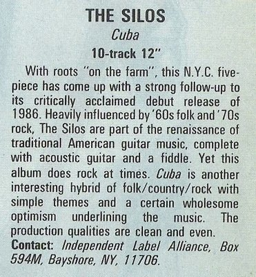 Silos, The / Cuba   Magazine Review   December 1987