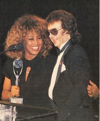 Turner, Tina / Rock + Roll Hall of Fame | Magazine Photo | January 1989 | with Phil Spector