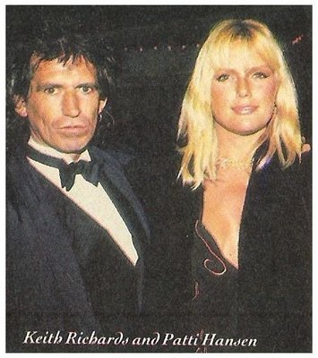 Richards, Keith / Rock + Roll Hall of Fame | Magazine Photo | January 1989 | with Patti Hansen